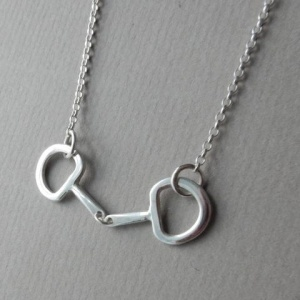 Snaffle Bit Silver Necklace