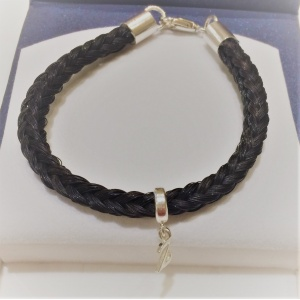 6mm Square braid bracelet with lobster catch