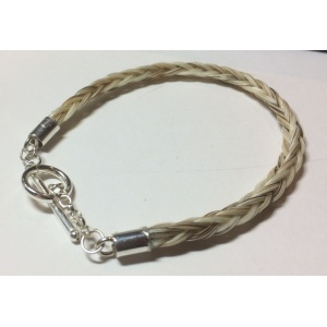 6 mm Square braid bracelet with toggle catch