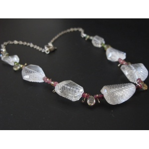 Carved Rock Crystal Necklace