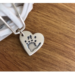 Silver Hand/Foot Print Charm - Antique finish
