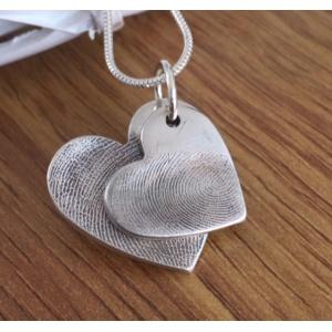Silver Duo of Fingerprint Charms