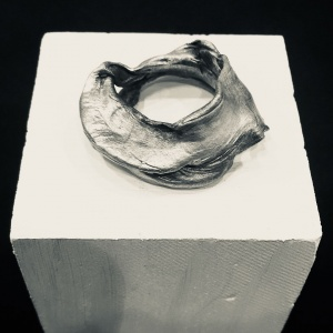 'SKINS' Organic Sculptural Sterling Silver Ring