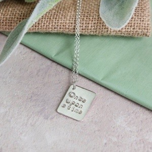 Vintage inspired story book necklace