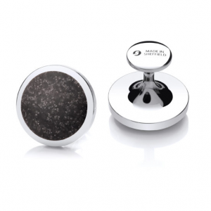 Sheffield Steel Cufflinks – Granite