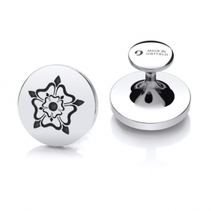 Sheffield Steel Cufflinks – Yorkshire Rose