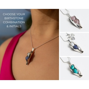 Two Pea In A Pod - Any Birthstone Combination