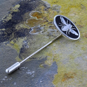 Oval Lapel/Tie  Stick Pin (Bee)