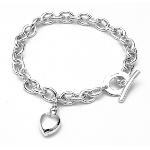 Bracelet with memorial heart pendant