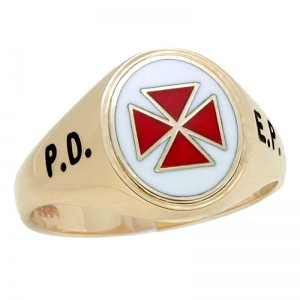 Scottish Knights Templar Swivel Signet Rings