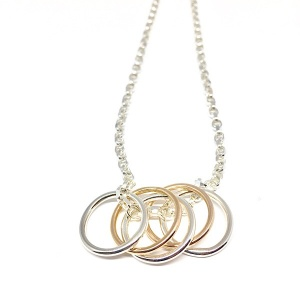 Tami – Silver and Rose Gold Rings Necklace