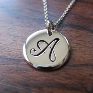 Initial Silver Pendant Necklace