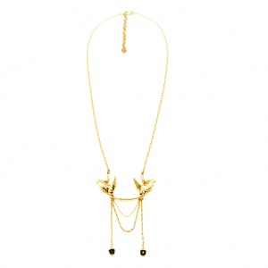 Gold Statement Swallow Necklace