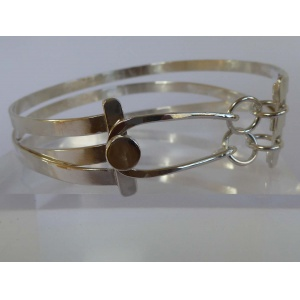 Sterling silver cuff bangle artisan jewellery