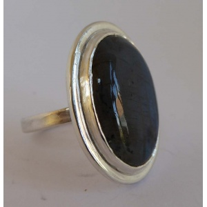Labradorite & silver statement ring