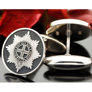 Coldstream Guards Personalised Silver Cufflinks