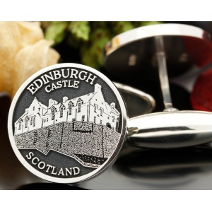 Edinburgh Castle Silver Cufflinks