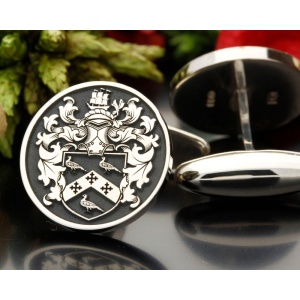 Family Crest Design Cufflinks Sterling Silver New Design