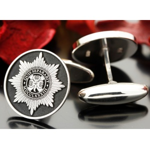 Irish Guards Silver Cufflinks