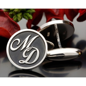 Initial Monogram (2) Cufflinks Personalised Sterling Silver