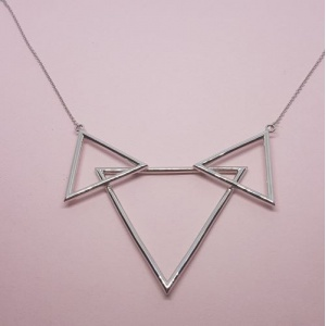 The Three Peaks Pendant Silver