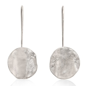 Rippled Small Drop Earrings