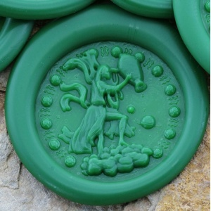 Aquarius Sign Peel and Stick Wax Seals