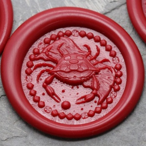 Cancer Sign Peel and Stick Wax Seals