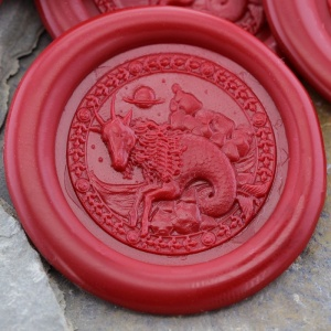 Capricorn Sign Peel and Stick Wax Seals