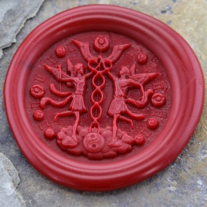 Gemini Sign Peel and Stick Wax Seals