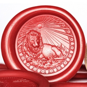 Leo Sign Peel and Stick Wax Seals