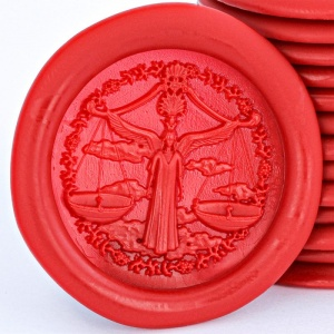 Libra Sign Peel and Stick Wax Seals