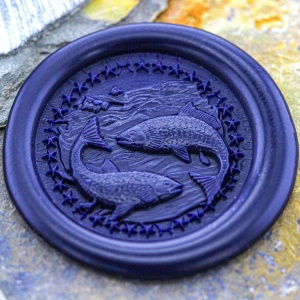 Pisces Sign Peel and Stick Wax Seals