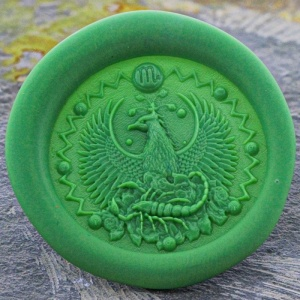 Scorpio Sign Peel and Stick Wax Seals