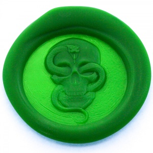 Skull and Snake Peel and Stick Wax Seals