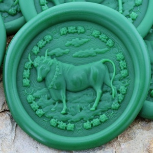 Taurus Sign Peel and Stick Wax Seals
