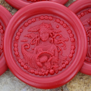 Virgo Sign Peel and Stick Wax Seals