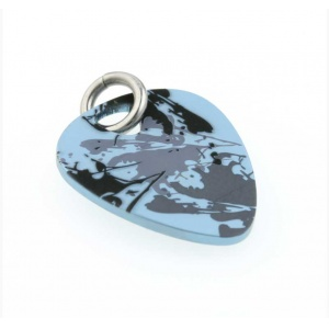 Ti2 Titanium Plectrum Sky Blue Splash Pendant & Chain