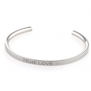 Ti2 Titanium Valentines Day Bangle with Diamond