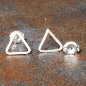 Triangle Sterling Silver Studs - Small