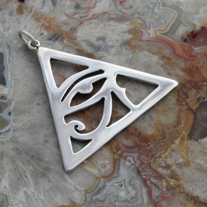 Sterling Silver Eye Of Horus Pendant (Male / Right Eye)