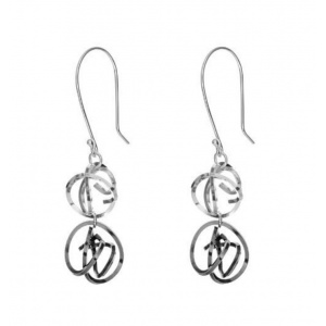 Double Tangle Drop Earrings