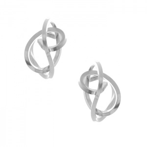 Silver Tangle Stud Earrings