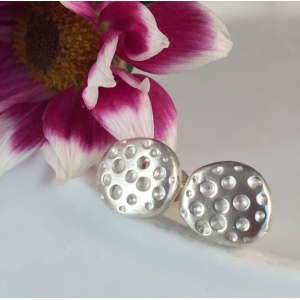 Sterling Silver Dot Earrings