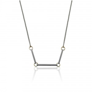 Bar Chain Necklace in Silver & Gold