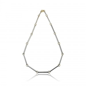 Bar Necklace in Silver & Gold