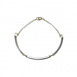 Curve Chain Bracelet in Silver & Gold