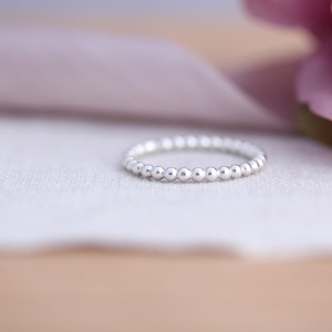 2mm Pearly Wire Stacking Ring