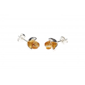 Allium Earrings Silver with Gold