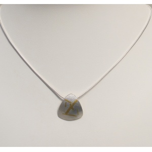 silver and keum bo pendant